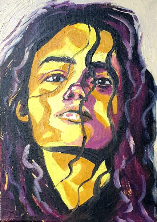 Ana original oil painting Lillian Gray