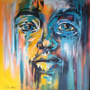 Dineo Lillian Gray Oil painting