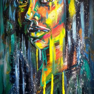 Iris Lillian Gray Oil painting